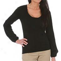 Joseph A. Scoop Neck Fine Gage Sweater