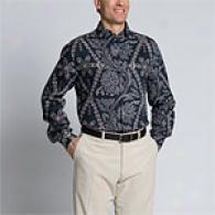 Joseph Abboud Abyss Linen Floral Print Shirt