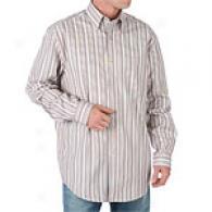 Joseph Abboud Striped Far-seeing Sleeve Dress Shirt