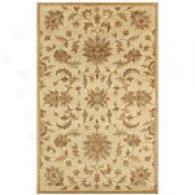Joyce Ivory Damask Hand Tufted Wool  Rug