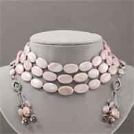 Judith Jack Mother-of-pearl & Crystal Necklace