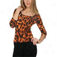 Just Cavalli Leopard Print Matte Jersey Top