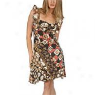 Just Cavalli Multi-print Dress With Satin Trim