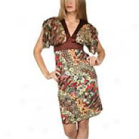Just Cavalli Multicolor V-neck Print Dress