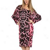 Just Cavalli Pink Giraffe Long Sleevr Dress