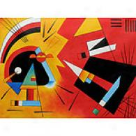 Kandinsky Black & Violet 1923 Painting 36in X 48in