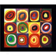 Kandinsky Color Research Of Squares Oil Painting