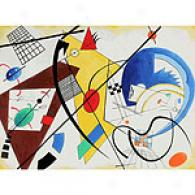 Kandinsky Throughgoing Line Painting 36in X 48in