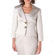 Kay Unger Platinum Brocade Jacket