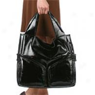 Kenneth Cole Ny On A Slant Patent Leather Tote