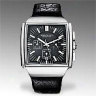Kenneth Cole Reaction Mens Black Leather Watch