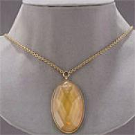 Kenneth Cole Simulated Smokey Quartz Necklace