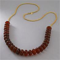 Kenneth Jay Lane Tortoise Rondel Bead Necklace