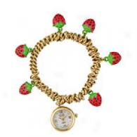 Kenneth Jay Lane Women Strawberry Fascinate Watch