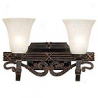 Kenroy Home Ribbon And Reed 2 Light Vanity