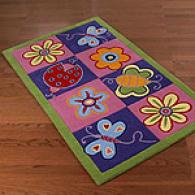 Kids Butterfly Hand-tufted Wool Rug