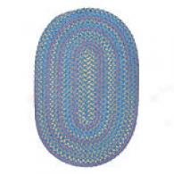 Kids Multicolor Striped Blue Chenille Braided Rug