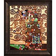 Klimt Fulfillment The Embrace Framed Oil Painting