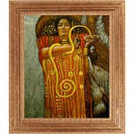 Klimt Hygjeia Framed Oil Painting