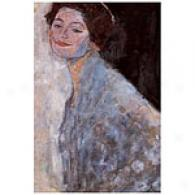 Klimt Portrait Of A Lady In Pure Canvas Print
