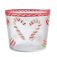 Kosta Boda Large Candy Cane Bowl