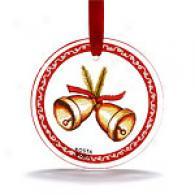 Kosta Boda Set Of 2 Ornaments