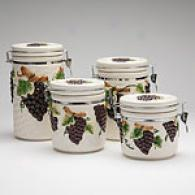La Dolce Viya Graes 4pc Canister Set
