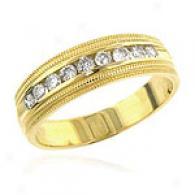 Ladies' 14k Yellow Gold 0.50 Cttw. Rhombus Band