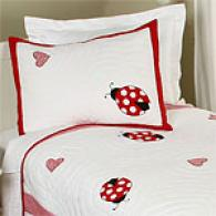 Lady Bug Kids Cotton Quilt Set