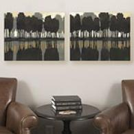 Lake At Dawn Set Of 2 16inx20in Canvas Prints