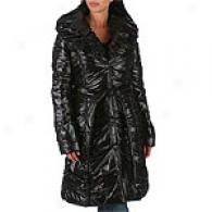 Laundry Shelli Segal High Gloss Belted Down Coat