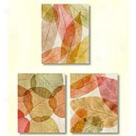 Leaves Intersecting Set Of 3 Cwnvas Prints