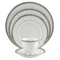 Lenox Seepentine Platinum 5pc Dinnerware Set
