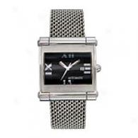 Leonard Men's Automatic Steel Mesh Watch