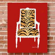 Leopard Chair 16in X 20in Canvas Print