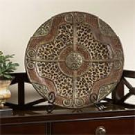 Leopard Print Decorative Plate & Stand