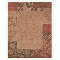 Light Chocolate Floral Perpendicular Hand-tufted Wool Rug