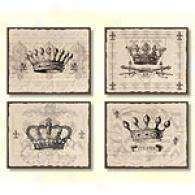 Light Crowns Set Of 4 11in X 14in Canvas Prints
