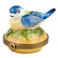 Limoges Hand Pajnted Blue Bird Box