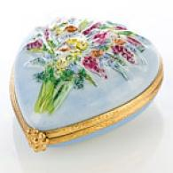 Limoges Hand Painted Melancholy Heart Bkx