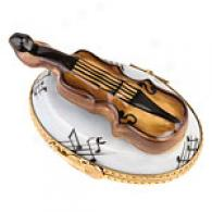 Limoges Hand Painted Porcelain Fiddle Box