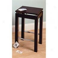 Linea Kitchen Stool With Chrome Accent
