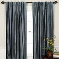 Liz Set Of Two 100% Silk Lined Window Panels