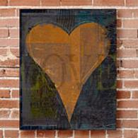 Love 11in X 14in Outdoor Canvsa Print