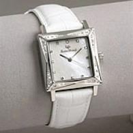 Lucien Piccard Ladies Diamond Square Case Watch
