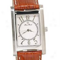 Lucien Piccard Men's Steel & Lizard Strap Watch