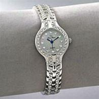 Lucien Piccard Womens Swarovski Round Face Watch