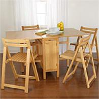 Macon Small Space sTable & Chair Set - Natural