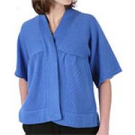 Magaschoni Cotton Dolman Sleeve Cardigan