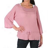 Magaschoni Dolmen Sleeve Tie Waist Sweater